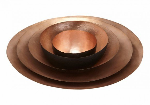 Form Bowl Tall Large Copper