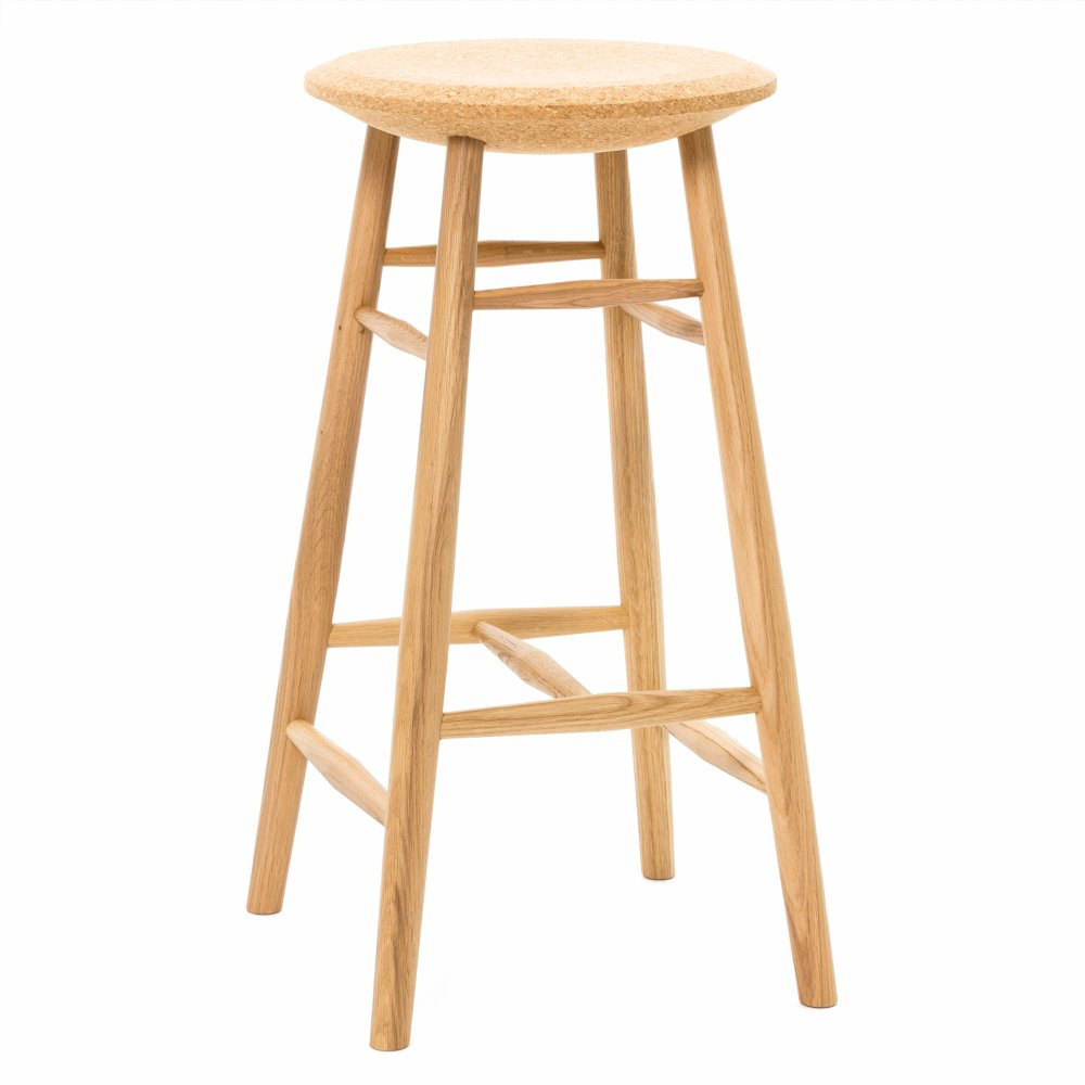 Drifted Bar Stool - Light Cork