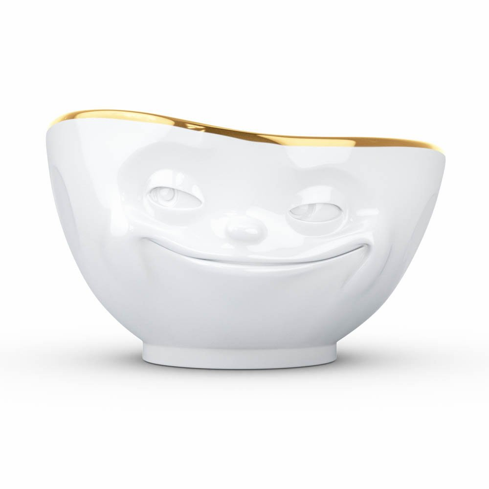 Bowl With Gold Rim