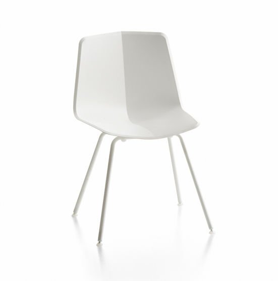 Stratos Chair White-White Legs