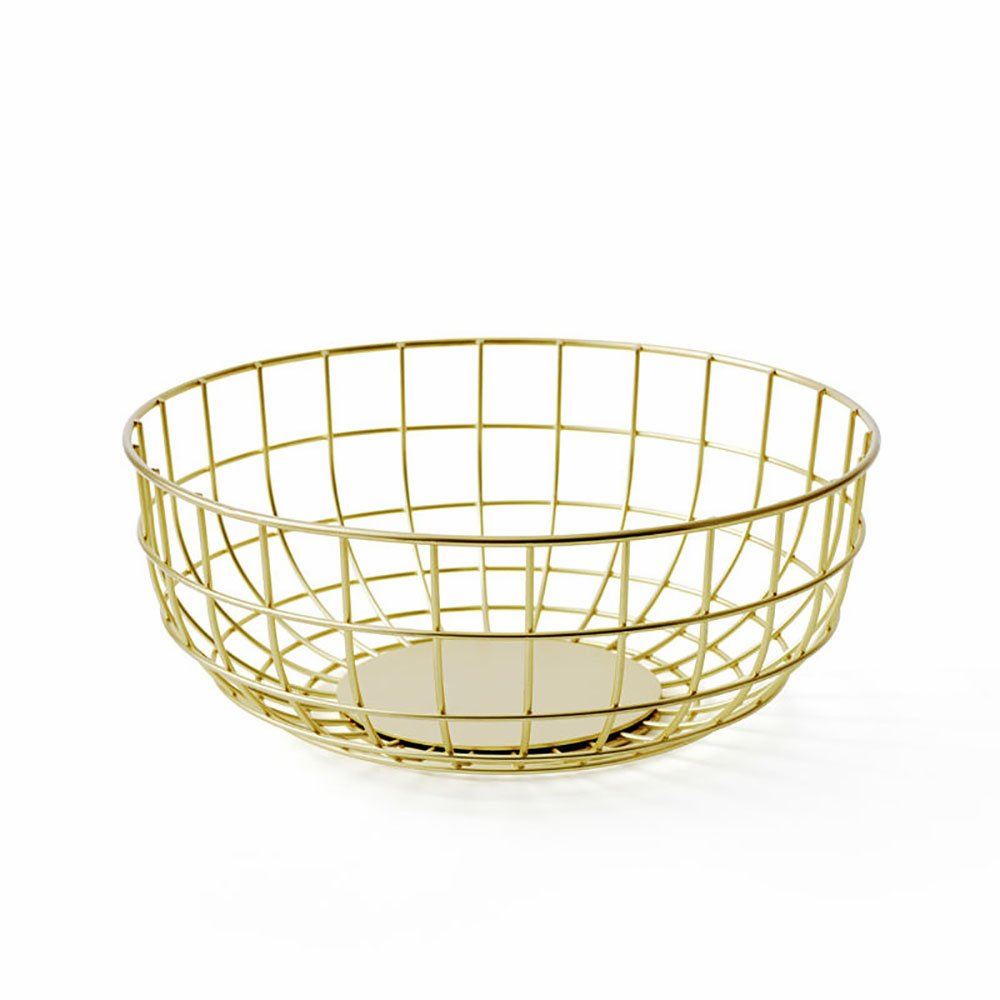 Norm Wire Bowl- Brass