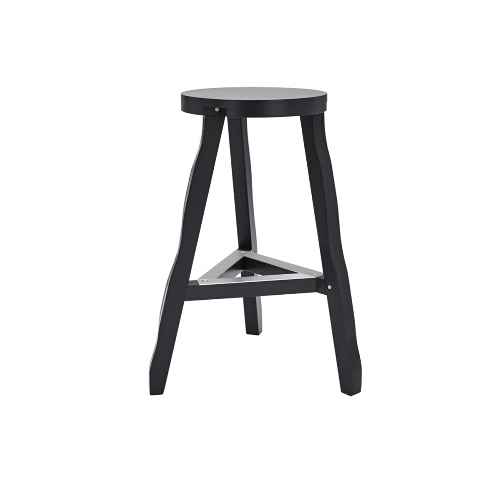 Offcut Stool 65cM Black/Natural